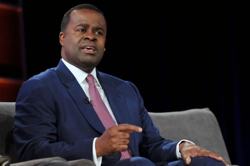 Former Atlanta Mayor Kasim Reed attends an NBC News panel discussion at the Georgia Aquarium in Atlanta in May of 2012. Reed is trying to make a political comeback by saying he's the mayoral candidate who can help lower Atlanta's rising crime rate.
