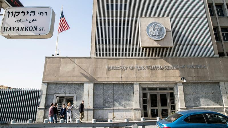 The U.S. Embassy building in Tel Aviv, Israel. Every president since 1995 has opted to put off a congressional act calling for the embassy to be moved to Jerusalem.