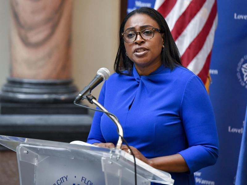 Rochester Mayor Lovely Warren, shown here at a press conference last month, has been accused of campaign finance violations.