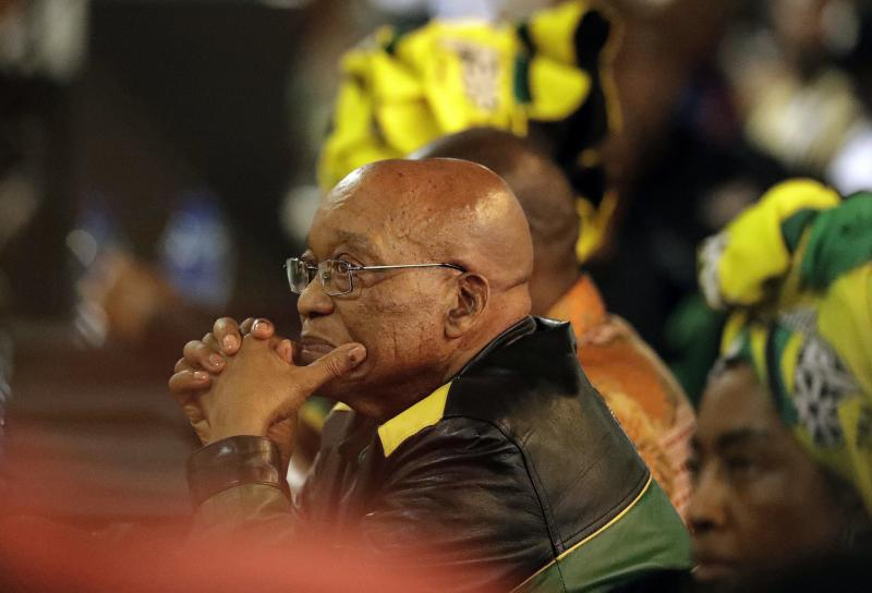 """South African President Jacob Zuma's political party announced Tuesday that it was """"recalling"""" him."""