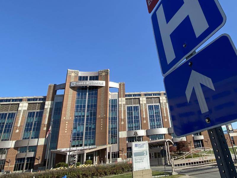 """Saint Luke's Hospital of Kansas City is one of the 18 hospitals in the Saint Luke's Health System. Two-thirds of the COVID-19 patients transferred to Saint Luke's from rural areas need intensive care. """"We get the sickest of the sick,"""" says Dr. Marc Larsen"""