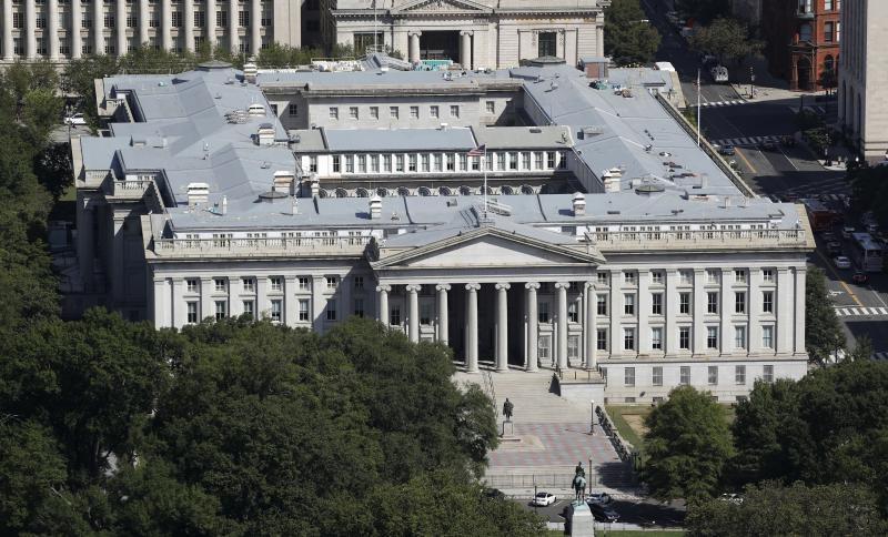 The U.S. Treasury Department, shown here in 2019, has been hacked along with the U.S. Commerce Department, according to reports. Russia is suspected, but denies involvement. The U.S. government has acknowledged a breach and says it is investigating to mak