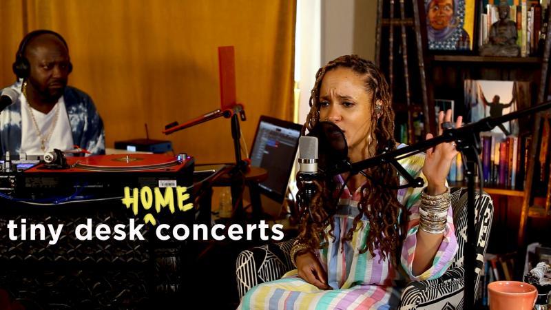 Sa-Roc plays a Tiny Desk (Home) concert.