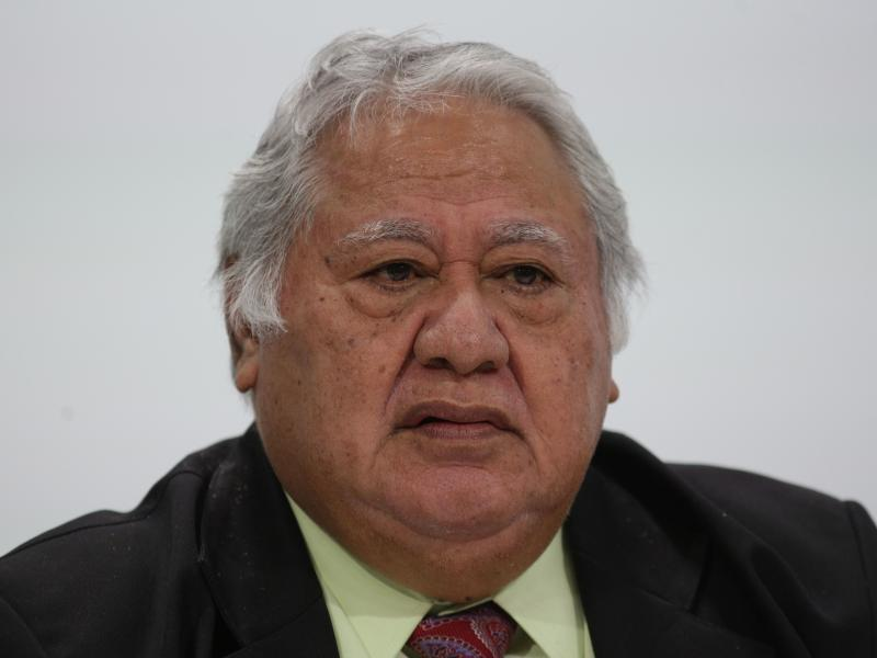 """Samoa's Prime Minister Tuilaepa Sailele Malielegaoi, pictured in 2018, pleaded with the public not to turn to """"alternative cures"""" for measles."""