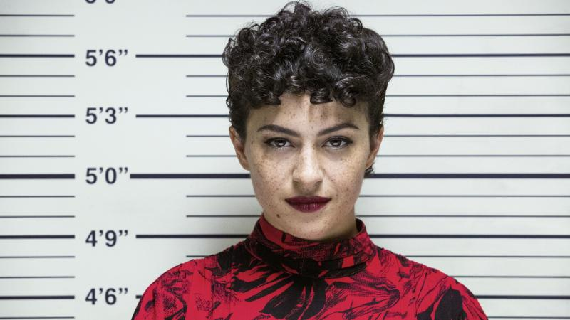 Dory (Alia Shawkat) faces the music (and the viewer) in the third season of Search Party on HBO Max.