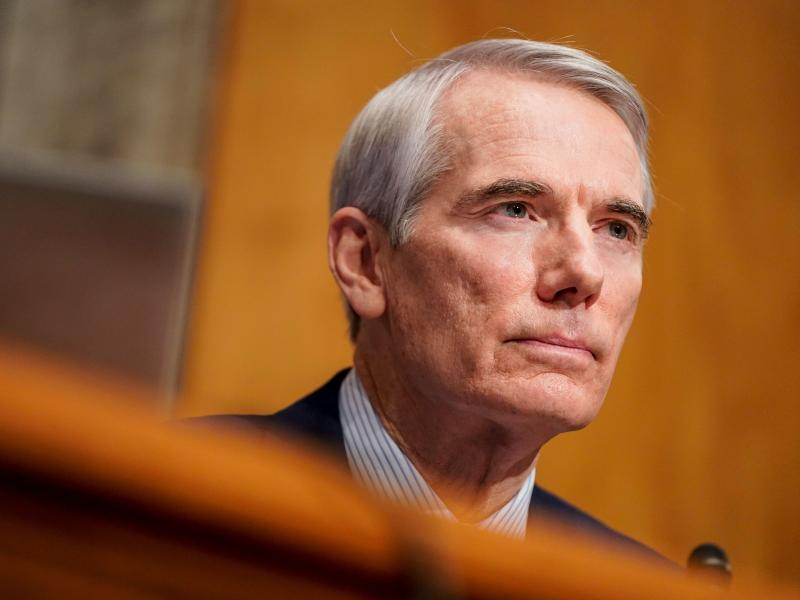 Sen. Rob Portman, R-Ohio, seen here during a confirmation hearing last week, has announced he won't run for reelection in 2022.