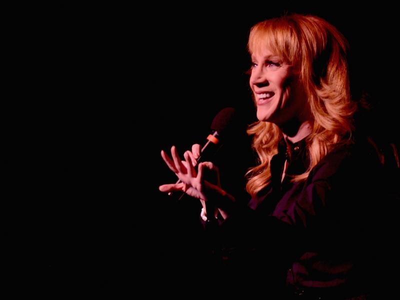 Kathy Griffin, onstage for her Like a Boss Tour.