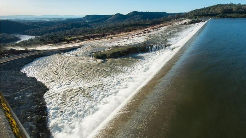 Signs Of Hope At Oroville Dam After Overflow Sparked Large - Distance above sea level