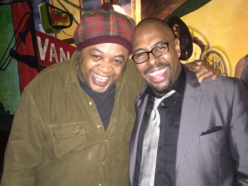 Jeff 'Tain' Watts and Jazz Night host, Christian McBride