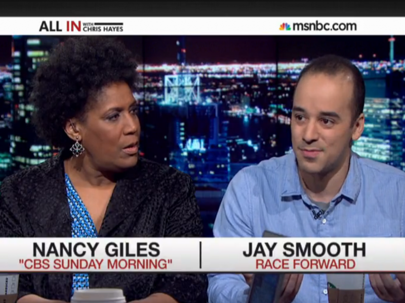 """""""It's also interesting because I'm actually black, but you assumed otherwise,"""" Jay Smooth told Nancy Giles."""
