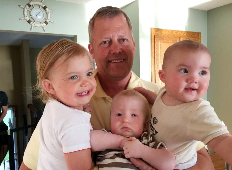 Paul Melquist says he is frustrated that his insurance costs are so high because he would like to be able to do more for his grandchildren — Adalyn, Mason and Carys — in his retirement.