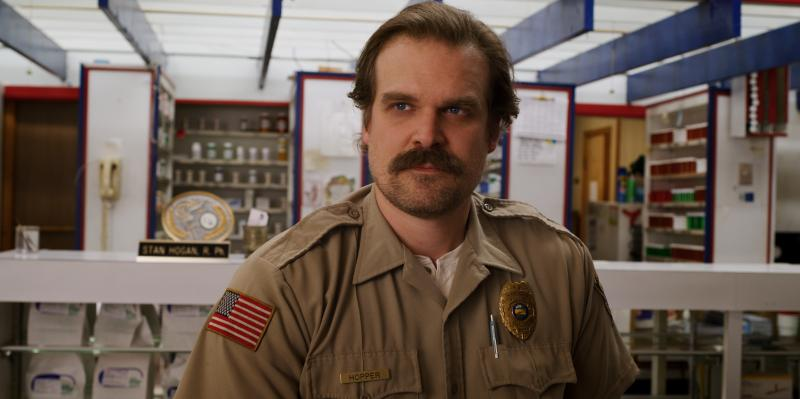 """We're all a bit of a mess ..."" says David Harbour. ""I've always wanted to portray that."" Harbour plays the cantankerous police chief Jim Hopper on the Netflix series Stranger Things. It returns for its third season on July 4."