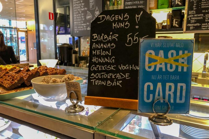 The Urban Deli cafe in Stockholm no longer accepts cash for any transactions. Going cashless is a growing trend throughout Sweden that some are beginning to question.