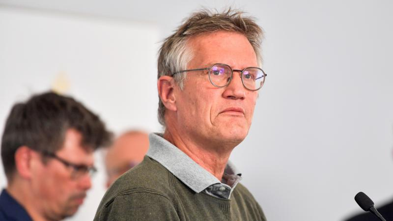 """Anders Tegnell, Sweden's chief epidemiologist, addresses a news conference Wednesday in Stockholm. """"There are things we could have done better,"""" Tegnell told a Swedish newspaper."""