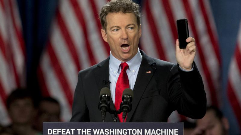 "Sen. Rand Paul launched his 2016 presidential campaign Tuesday with a combative message against both Washington and his fellow Republicans, declaring that ""we have come to take our country back."""