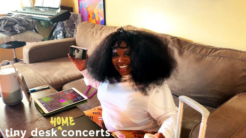 "Tarriona ""Tank"" Ball plays a Tiny Desk (Home) Concert."