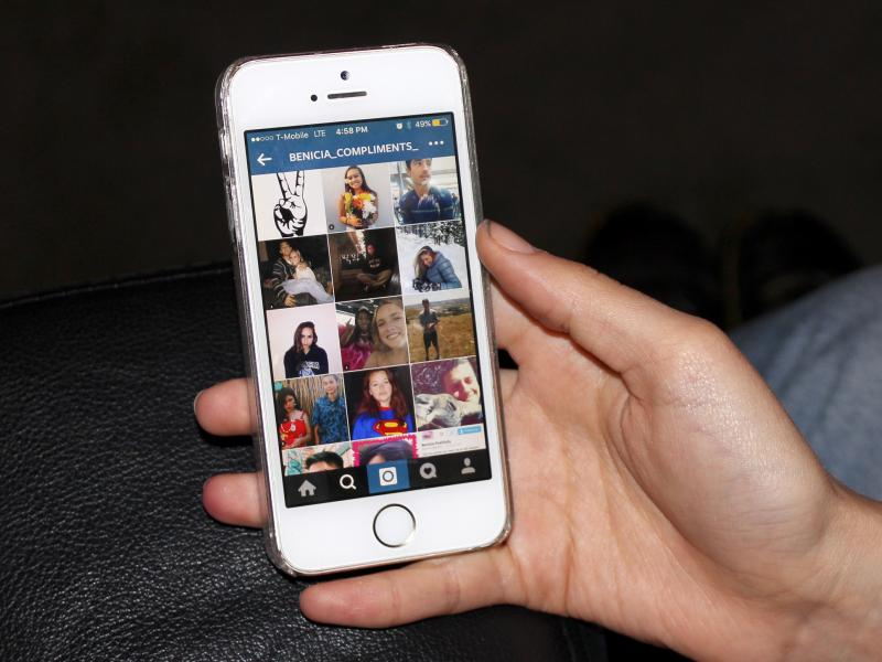 The Benicia Compliments page sprang up on Instagram as a platform for girls attending Benicia High School to tag each other in positive social media posts.