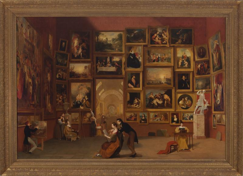 Samuel F. B. Morse, Gallery of the Louvre, 1831–33, Oil on canvas Terra Foundation for American Art, Daniel J. Terra Collection 1992.51 Courtesy of the Reynolda House Museum of American Art.