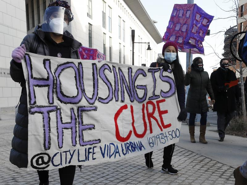 The Texas Supreme Court has allowed an emergency order to expire. Housing groups warn that this could result in thousands of people losing their homes to eviction. Tenants' rights advocates, like those pictured here in Boston, have pushed for stronger pro