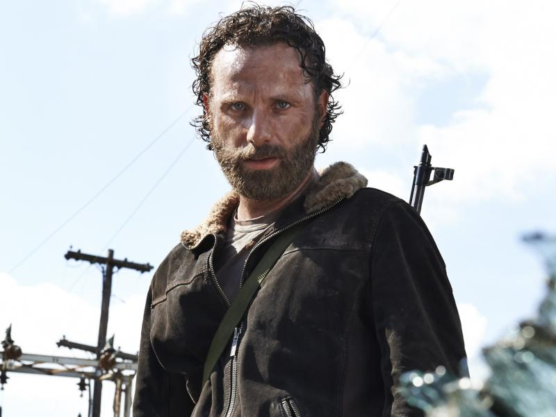 Andrew Lincoln plays Rick Grimes in The Walking Dead.