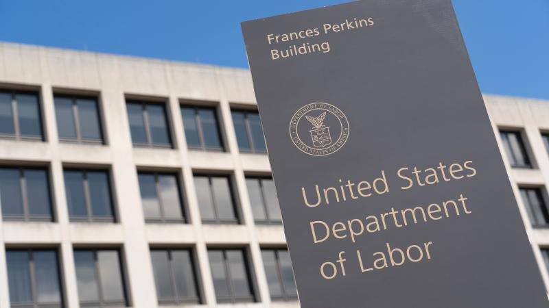 The U.S. Department of Labor building on March 26, 2020, in Washington, D.C.
