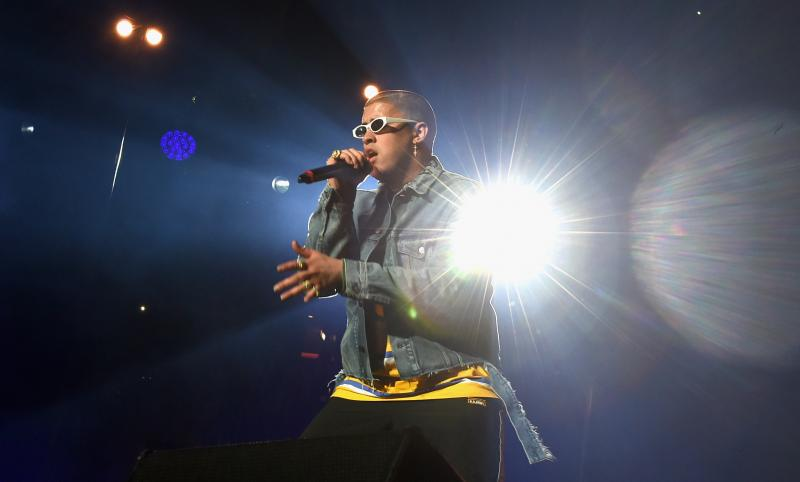 Bad Bunny performs onstage during Calibash 2018 in Los Angeles, California.