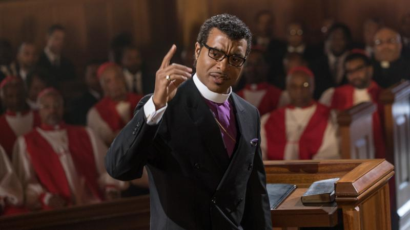In Come Sunday, Chiwetel Ejiofor plays Carlton Pearson, a real-life megachurch leader who experiences a crisis of faith.