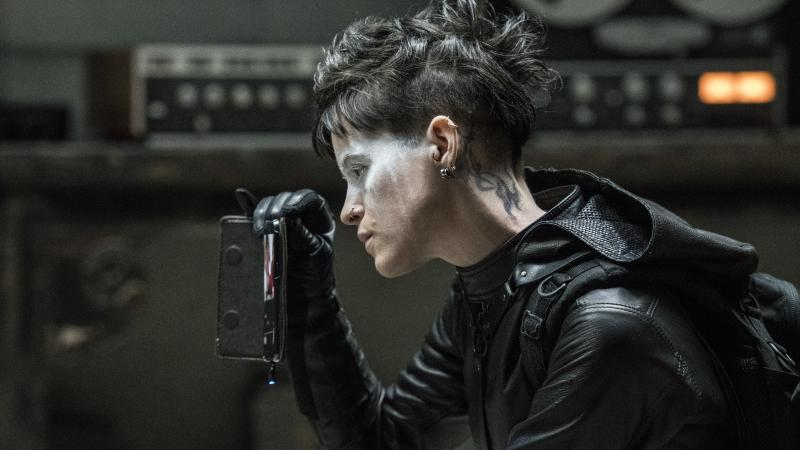 """""""Welcome to my pallor, said the spider to the fly"""": Lisbeth Salander (Claire Foy) goes beyond the pale in The Girl in the Spider's Web."""