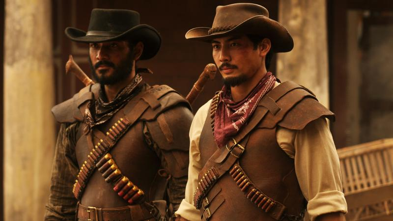 "L to R: Jamar (Ario Bayu) and Suwo (Yoshi Sudarso) star in the ""nasi goreng Western"" Buffalo Boys."