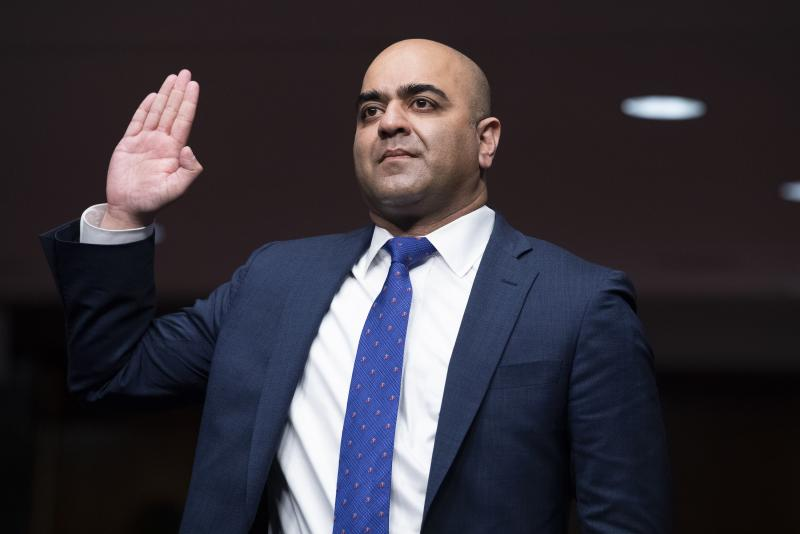 Zahid Quraishi was confirmed as a U.S. District Judge for the District of New Jersey.