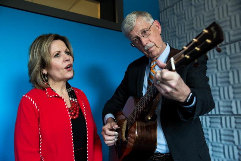 NIH Director Francis Collins and Renée Fleming, who is Artistic Advisor at Large for the Kennedy Center in Washington, D.C., sing a duet.