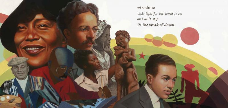 """""""It's thrilling to see Kwame Alexander and Kadir Nelson's exceptional work recognized by the Caldecott, Newbery, and Coretta Scott King Book Award committees,"""" Cat Onder, senior vice president and publisher of HMH Books for Young Readers, tells NPR of The"""