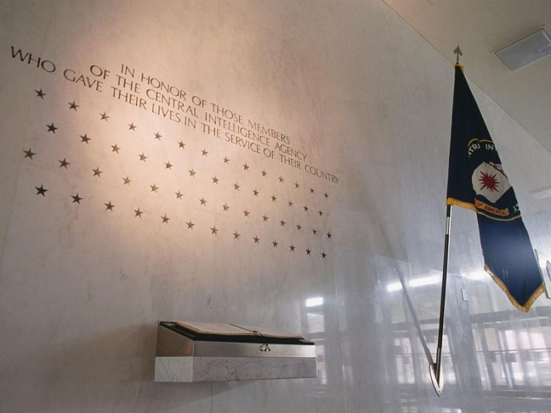 A wall inside the CIA headquarters honors members of the CIA who died in the service of their country.