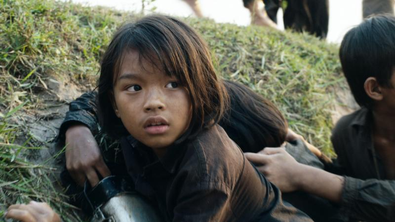 Sareum Srey Moch plays a young Loung Ung in Netflix's First They Killed My Father.