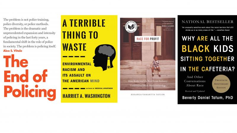 Books on race and systemic racism.