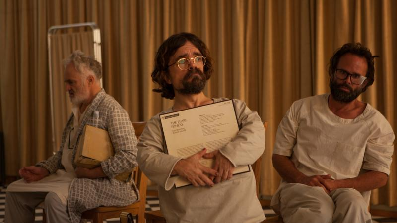 Three Christs, No Waiting: Joseph (Bradley Whitford), Leon (Peter Dinklage) and Clyde (Walton Goggins) in Jon Avnet's film.