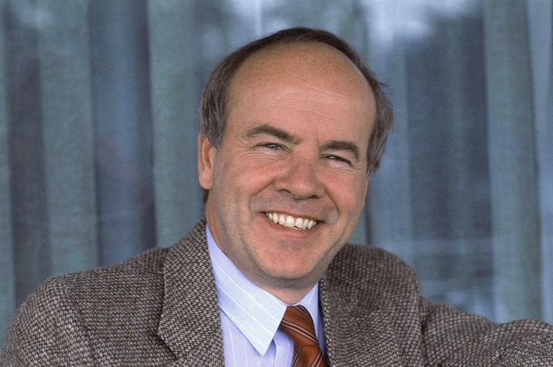 """Tim Conway told NPR in 2010 that he was destined to do comedy. When people inquired about what he might have done other than showbiz, he'd say, """"Nothing, because I'm not capable of doing anything else."""" Conway is pictured here in February 1983."""