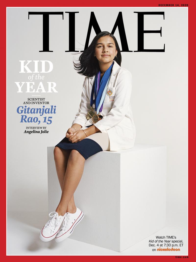 Gitanjali Rao, 15, is Time magazine's Kid of the Year for 2020. Rao has continued to work on solving problems through science after gaining fame for creating a device to test lead levels in water.