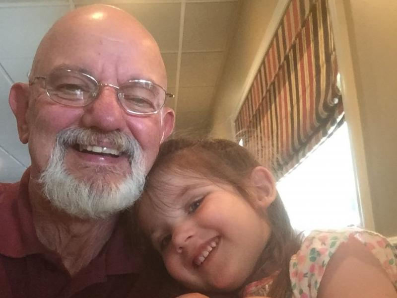 Tom Makosky, of Carbondale, Pa., poses with his granddaughter. Tom died June 3, 2020, from COVID-19 at the age of 66.