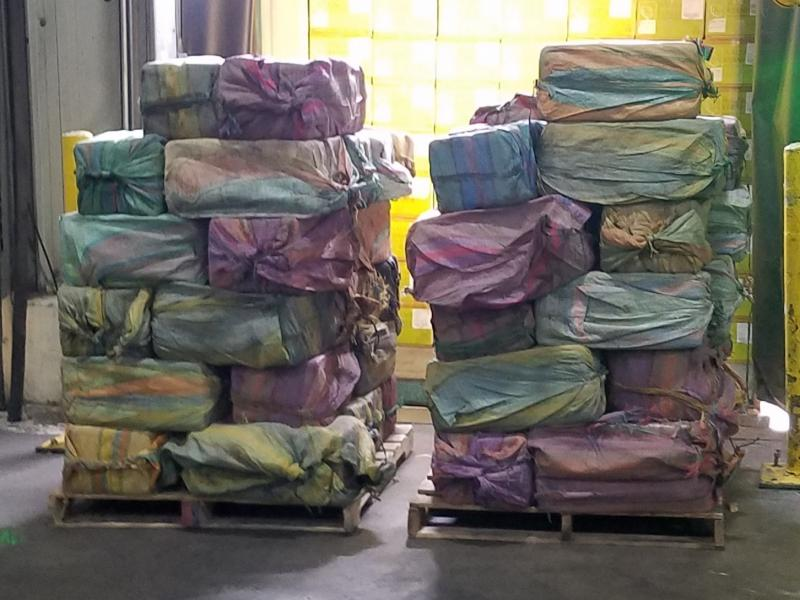Sixty packages of cocaine were seized from a shipping container at the Port of New York/Newark.