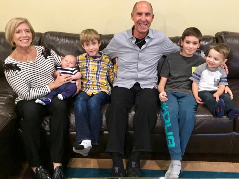 Denise and Richard Victor of Bloomfield Hills, Mich., have been missing their grandkids, whom they haven't seen since February. Before the pandemic, they had regular visits with grandsons (from left) Daren Cosola, Stirling Victor, Davis Victor and Lucas C