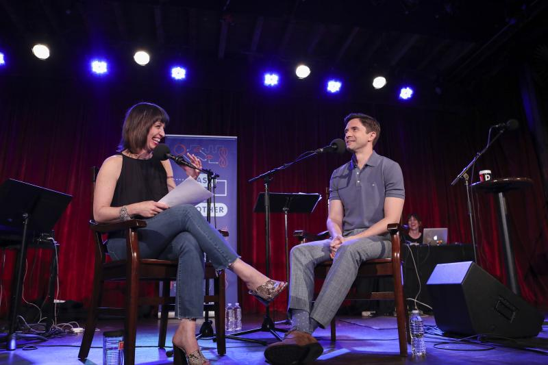 Ophira Eisenberg interviews Topher Grace on Ask Me Another at the Bell House in Brooklyn, New York.