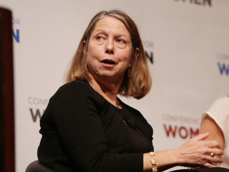 Journalist Jill Abramson participates in a conference at Santa Clara Convention Center on Feb. 24, 2015 in Santa Clara, Calif.