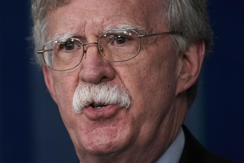 National Security Adviser John Bolton speaks during a White House news briefing in October.