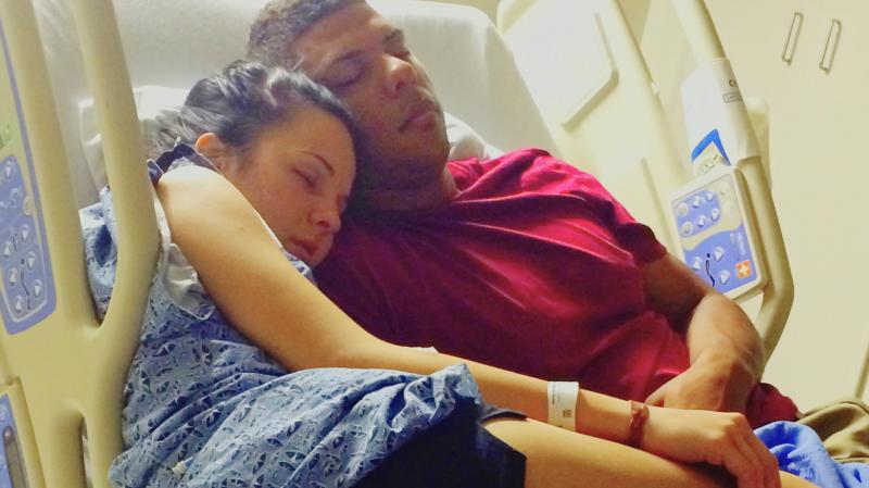 Angel Parker, the subject of the first episode of Diagnosis, rests at the hospital with her boyfriend.