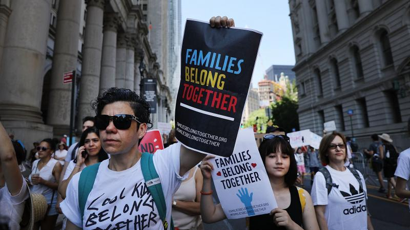 Protesters in New York City marched last month in support of the families separated at U.S.-Mexico border.