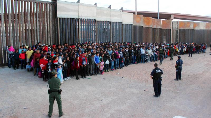 President Trump has announced plans to impose escalating tariffs on goods imported from Mexico in an attempt to stop migrants from entering the U.S. over the southern border. U.S. Customs and Border Protection released this photo, taken on Wednesday at El