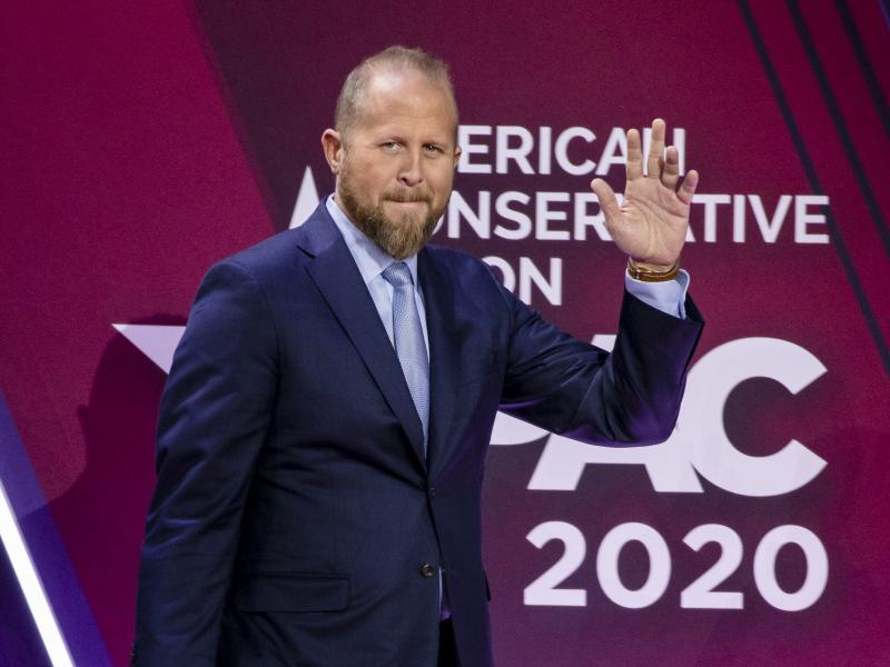 Brad Parscale on stage during the Conservative Political Action Conference 2020 in February.