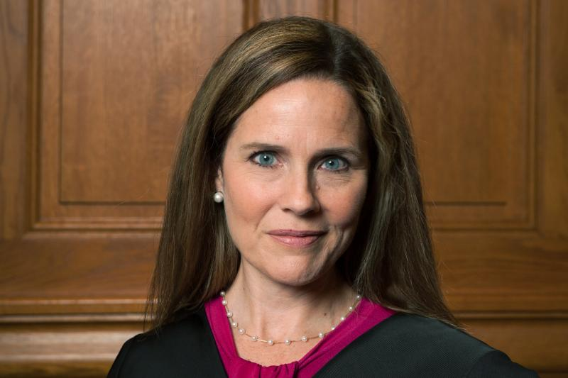 Judge Amy Coney Barrett, pictured in 2018, is 48 years old and would likely serve for decades to come on the high court if confirmed by the Senate.