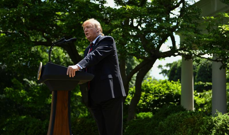 President Trump announces a new immigration proposal in the White House Rose Garden on Thursday.